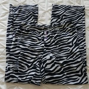 SO zebra pajama bottoms